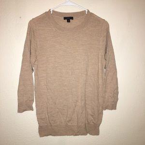 J crew size medium 100% merino wool 3/4 Sleeve